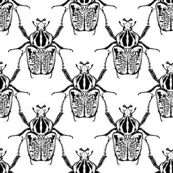 Жуки голиаф насекомые бесшовные модели