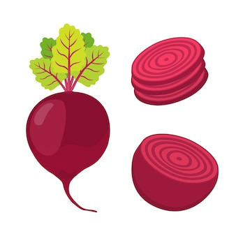Beetroot set with slices