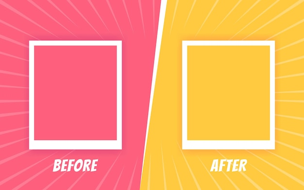 Before and after template. two color retro