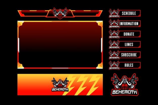 Накладка на игровую панель behemoth