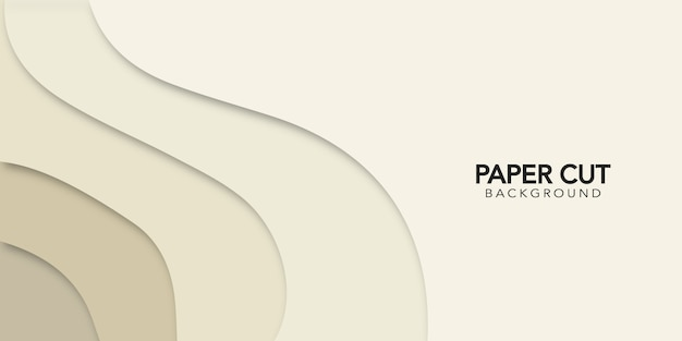 Beige abstract background  in paper cut style.  design banner.