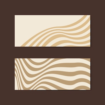 Beige abstract banner design vectors