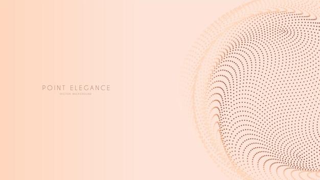 Beige abstract glitch point sphere background