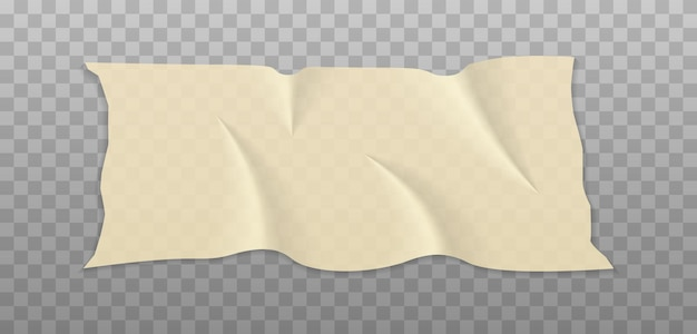 Beige adhesive or masking tape pieces