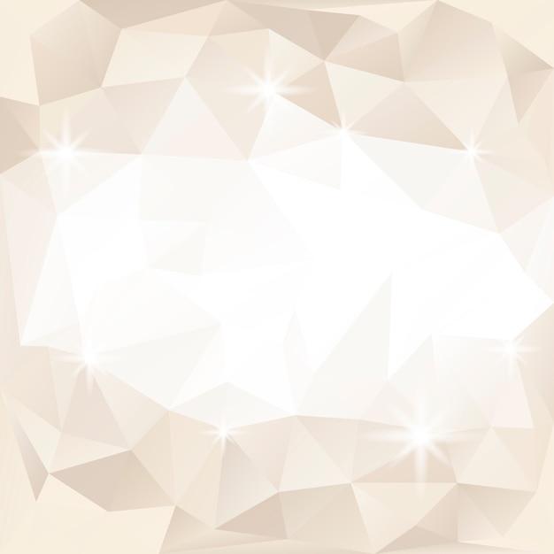 베이지 색과 흰색 크리스탈 질감 배경