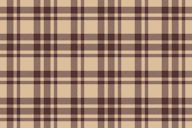 Beige brown check plaid seamless
