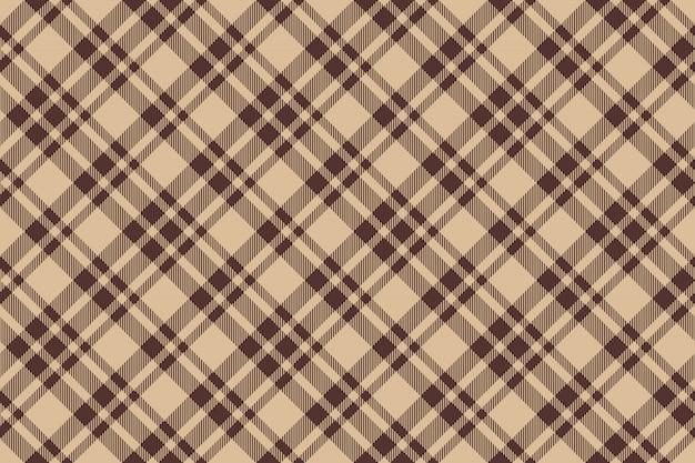Beige brown diagonal check plaid seamless background