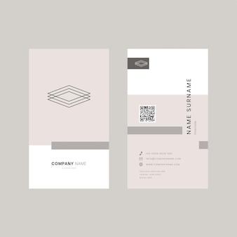 Редактируемый шаблон бежевой визитки