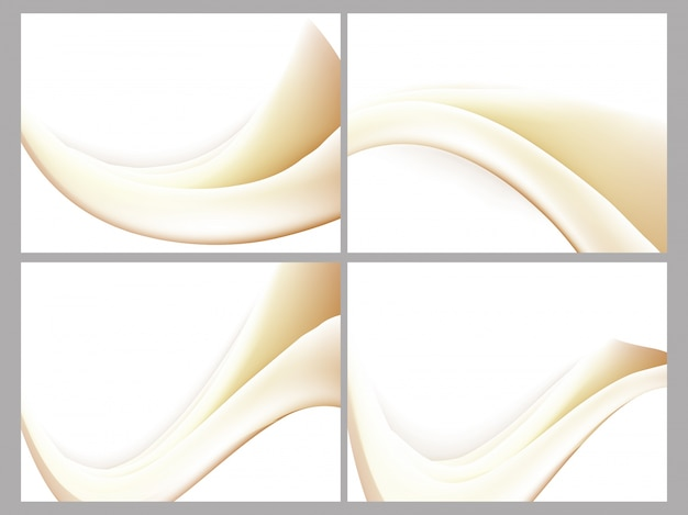 Beige color waves collection.
