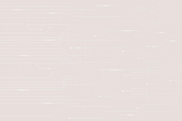 Beige data technology background with circuit lines