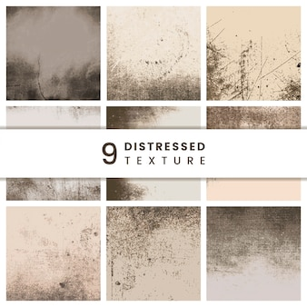 Beige distressed patterns set