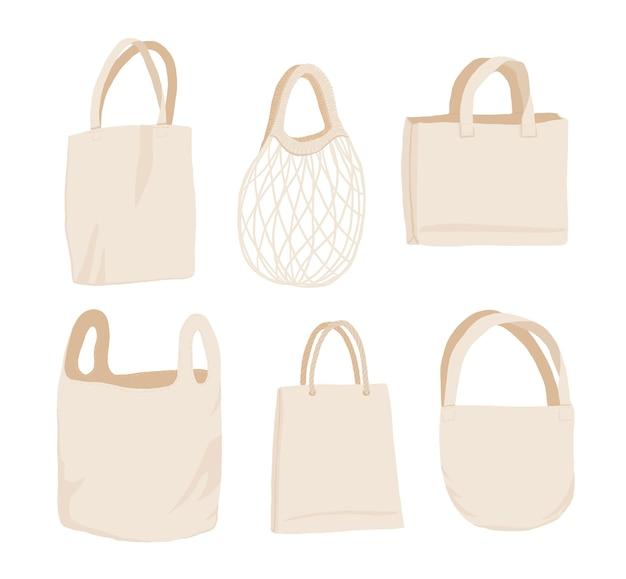 ベージュの布または紙バッグ。