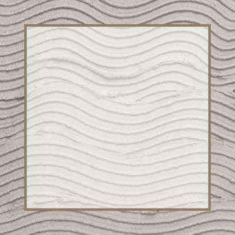 Beige frame vector with textured background