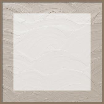 テクスチャ背景とベージュのフレームベクトル