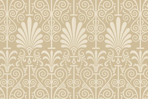 Beige greek key seamless pattern  background