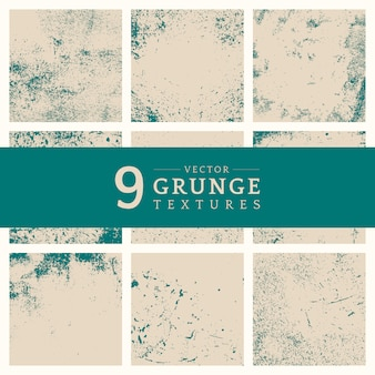 Beige grunge distressed texture set