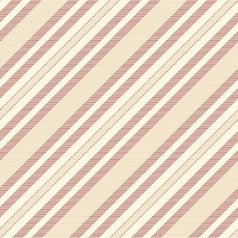 Beige red striped fabric texture seamless pattern