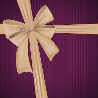 Beige ribbon bowtie decoration