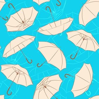 ベージュの傘