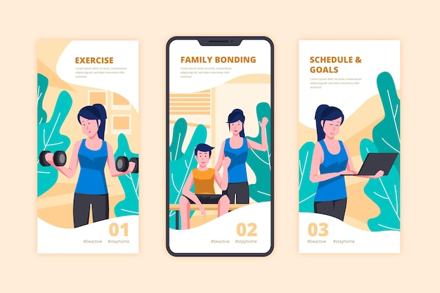 Being active tips instagram concept