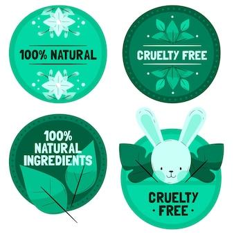Essere contro il set di badge per la crudeltà sugli animali