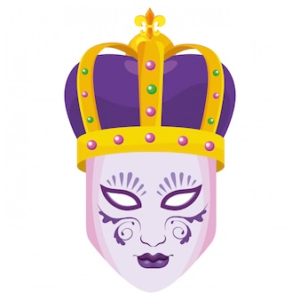 Bejeweled crown and mask