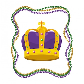 Bejeweled crown with beads
