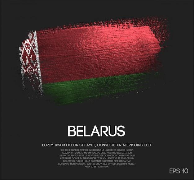 Belarus flag made of glitter sparkle brush paint vector