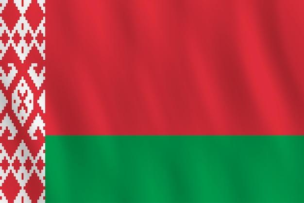 手を振る効果のあるベラルーシの旗、公式のプロポーション。