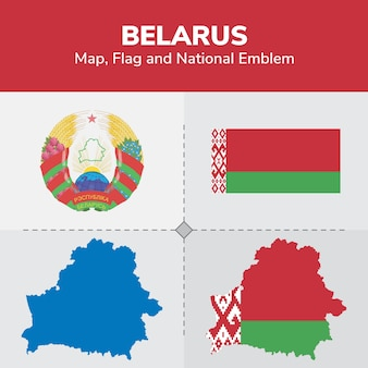 벨로루시지도 플래그 및 국가 상징