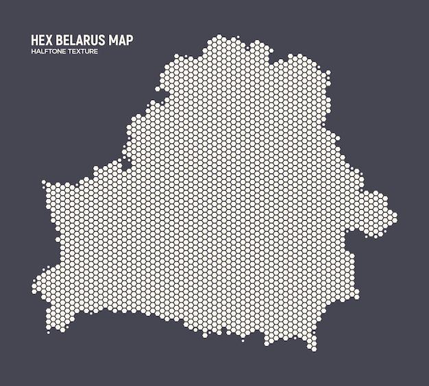 ベラルーシマップ六角形ハーフトーンテクスチャ