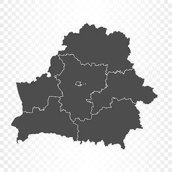 透明に分離されたベラルーシの地図