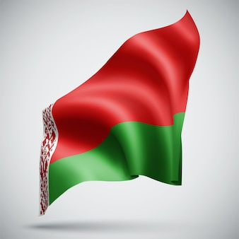 Belarus, vector 3d flag isolated on white background