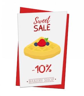 Belgian waffle poster, banner