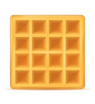 Belgian waffle sweet dessert for breakfast