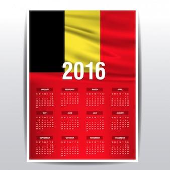 Belgium calendar of 2016