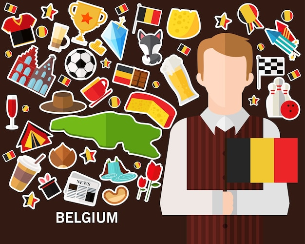 Belgium concept background
