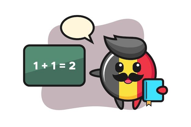 Бельгия флаг значок персонаж как учитель