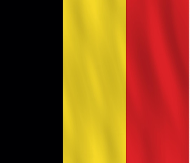 手を振る効果のあるベルギーの旗、公式の比率。