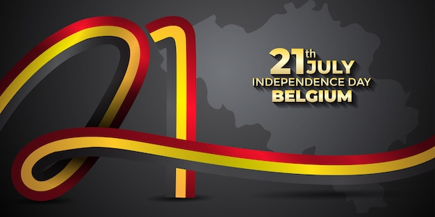 Belgium independence day design template