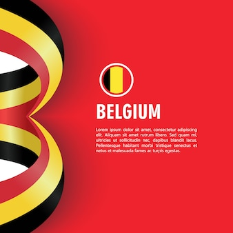 Belgium independence day vector template design illustration