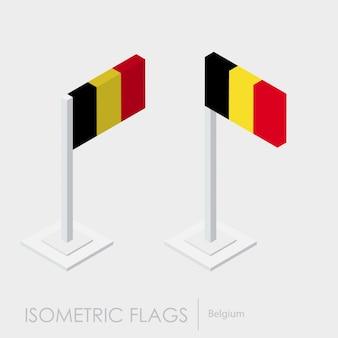 Belgium isometric flag