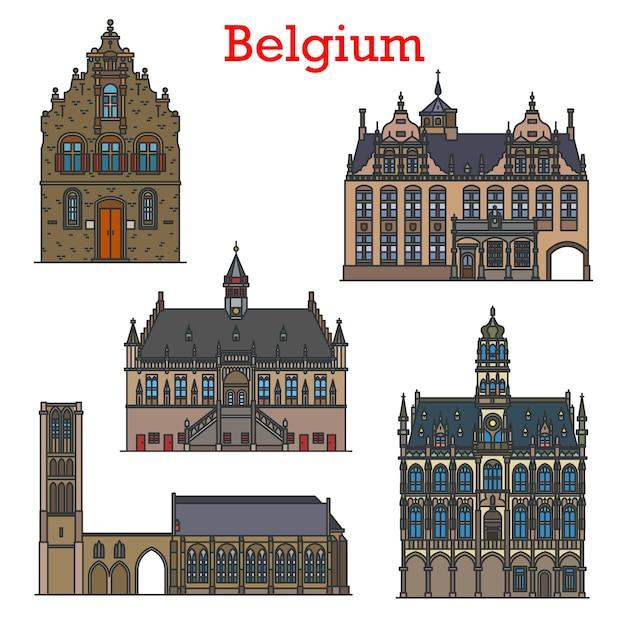 Belgium travel landmarks, architecture buildings