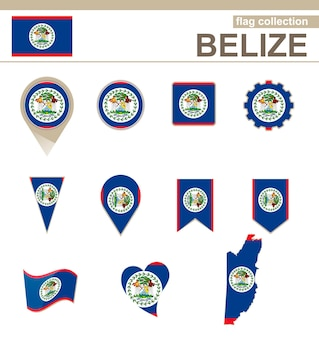 ベリーズの国旗コレクション、12バージョン