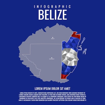 Belize map infographic