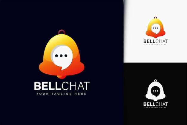 그라데이션이 있는 벨 채팅 로고 디자인
