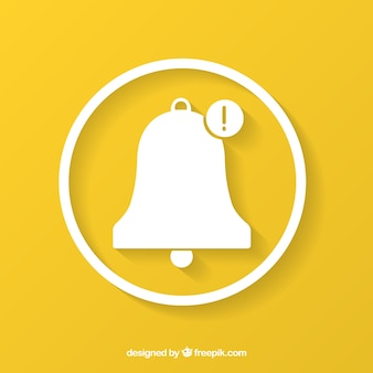 Bell on yellow background