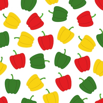 Bell peppers seamless pattern background vector design