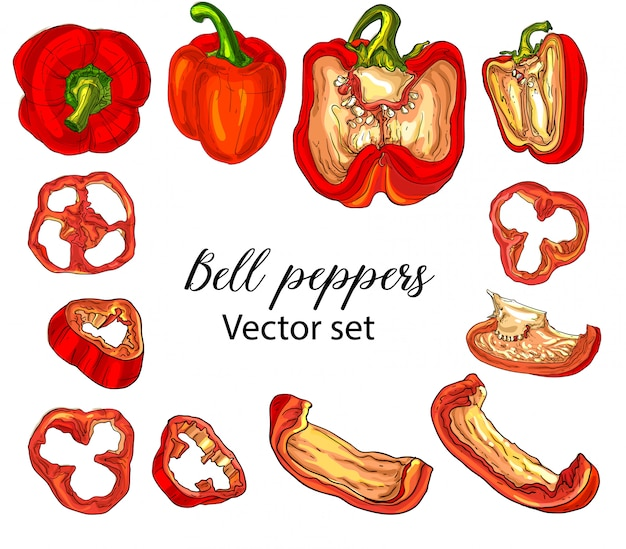 Bell peppers set