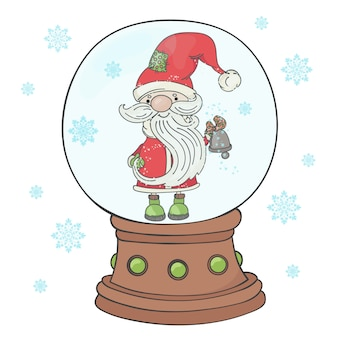 Bell santa с рождеством